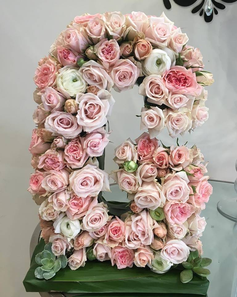 7a21883a5352 This customized 12 tall floral letter or number is perfect for a