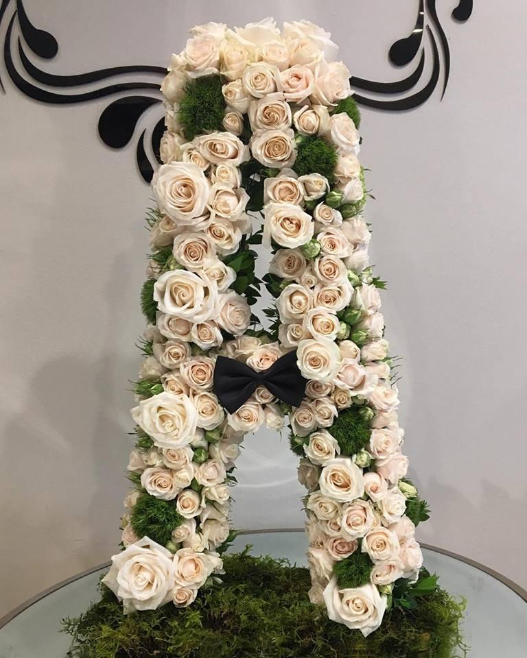 Custom Floral Letter Baby Shower Gift Birthday Wedding Decor Home