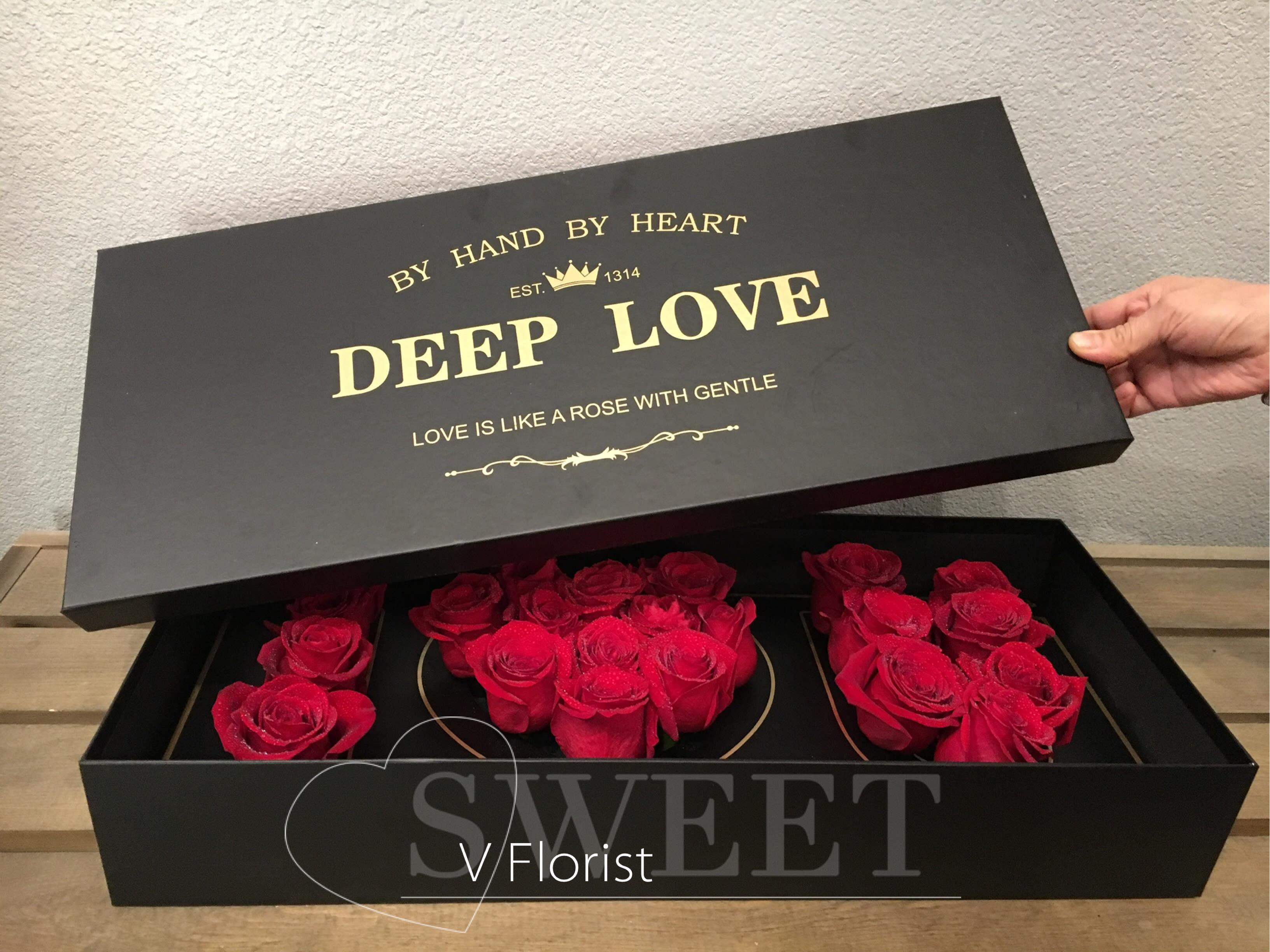 Deep Love Flowers Box In Las Vegas Nv V Florist