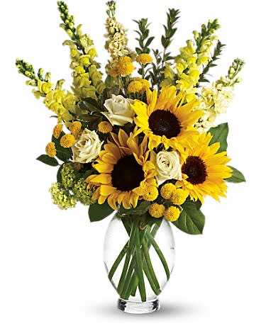 Here Comes The Sun by Teleflora - Here comes the sun and it's all bright especially