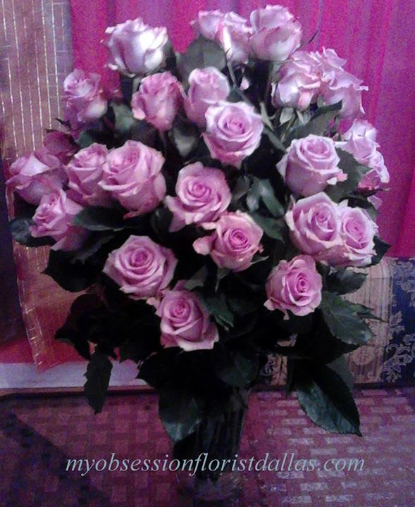 Pretty Purple Roses Mo 225 In Dallas Tx My Obsession Floral