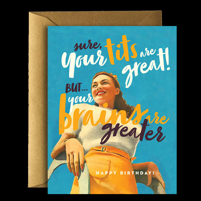 Great Tits Greeting Card