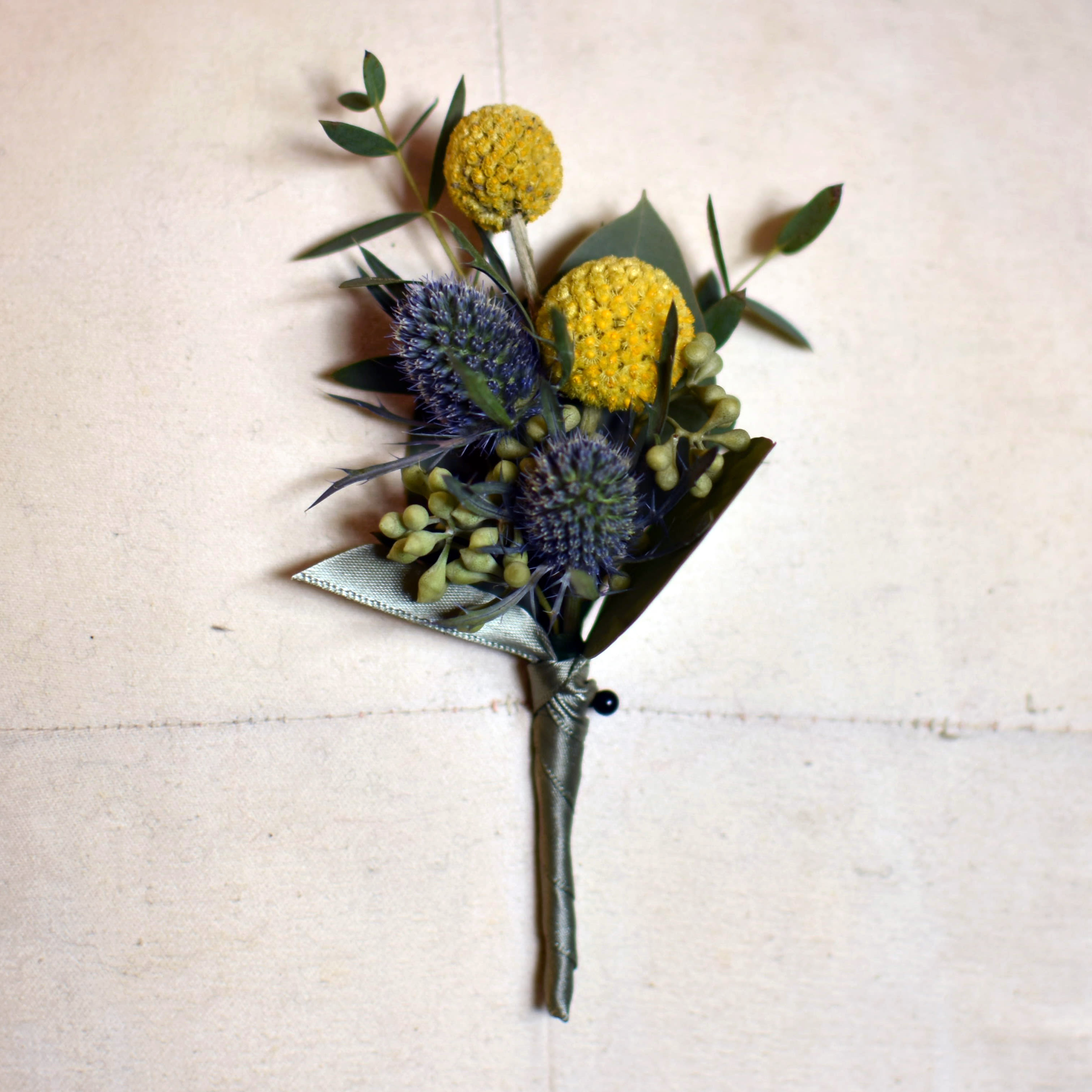 Billy Ball Boutonniere In Kansas City Mo Fiddly Fig