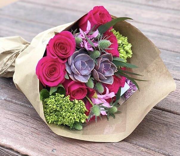 Blooming Pink Bouquet In Los Angeles Ca Brenda S Flowers