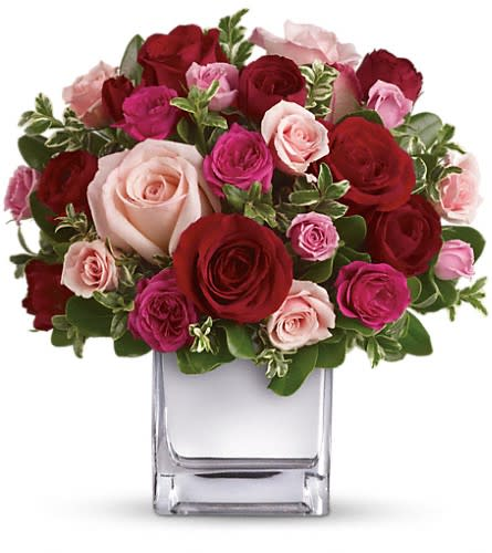 Telefloras Love Medley Bouquet With Red Roses In New York Ny