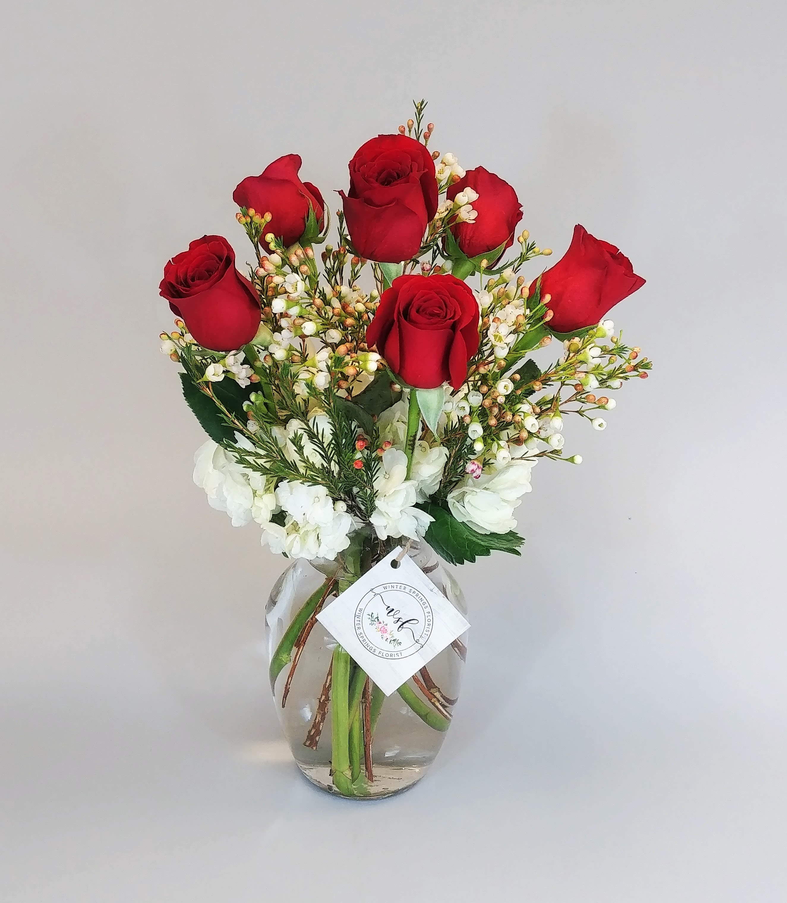 Half Dozen Roses In Winter Springs Fl Winter Springs Florist