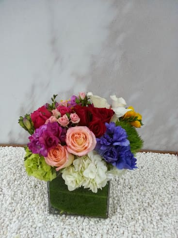 Spring Arrangement By Muguet Florist