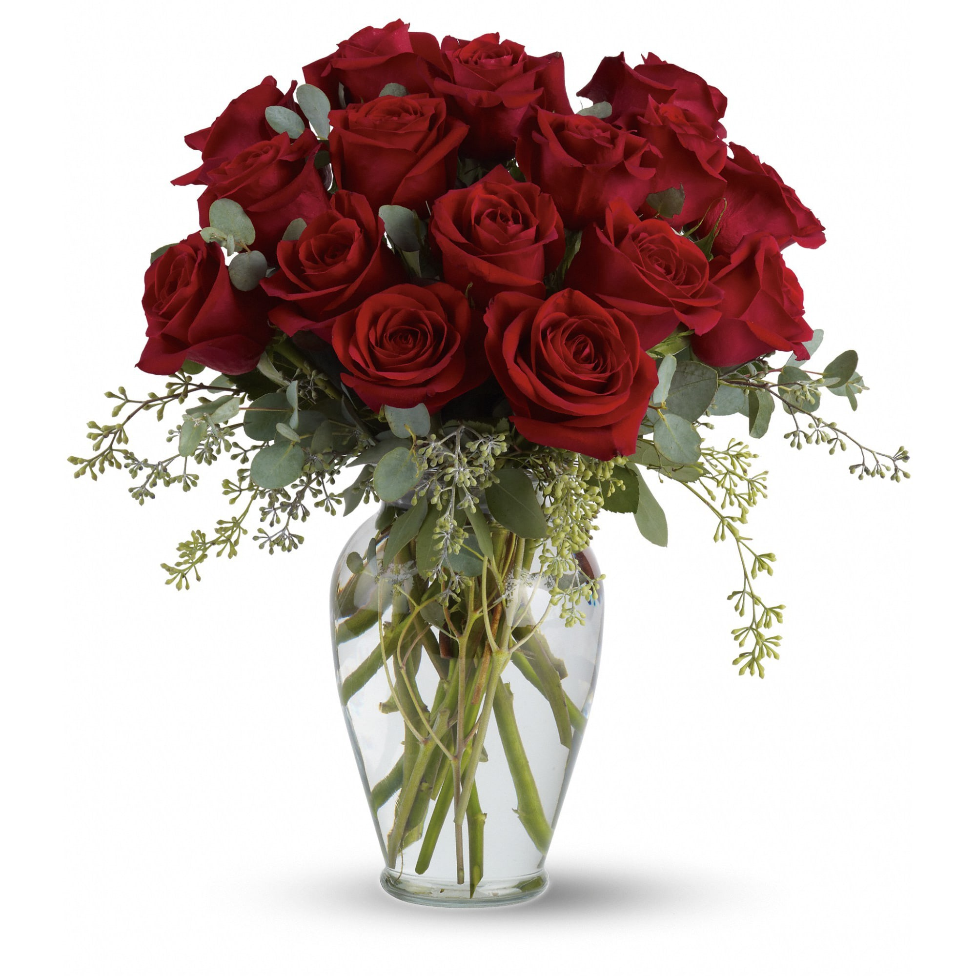 Full Heart 16 Premium Red Roses By Teleflora In Minot Nd Flower