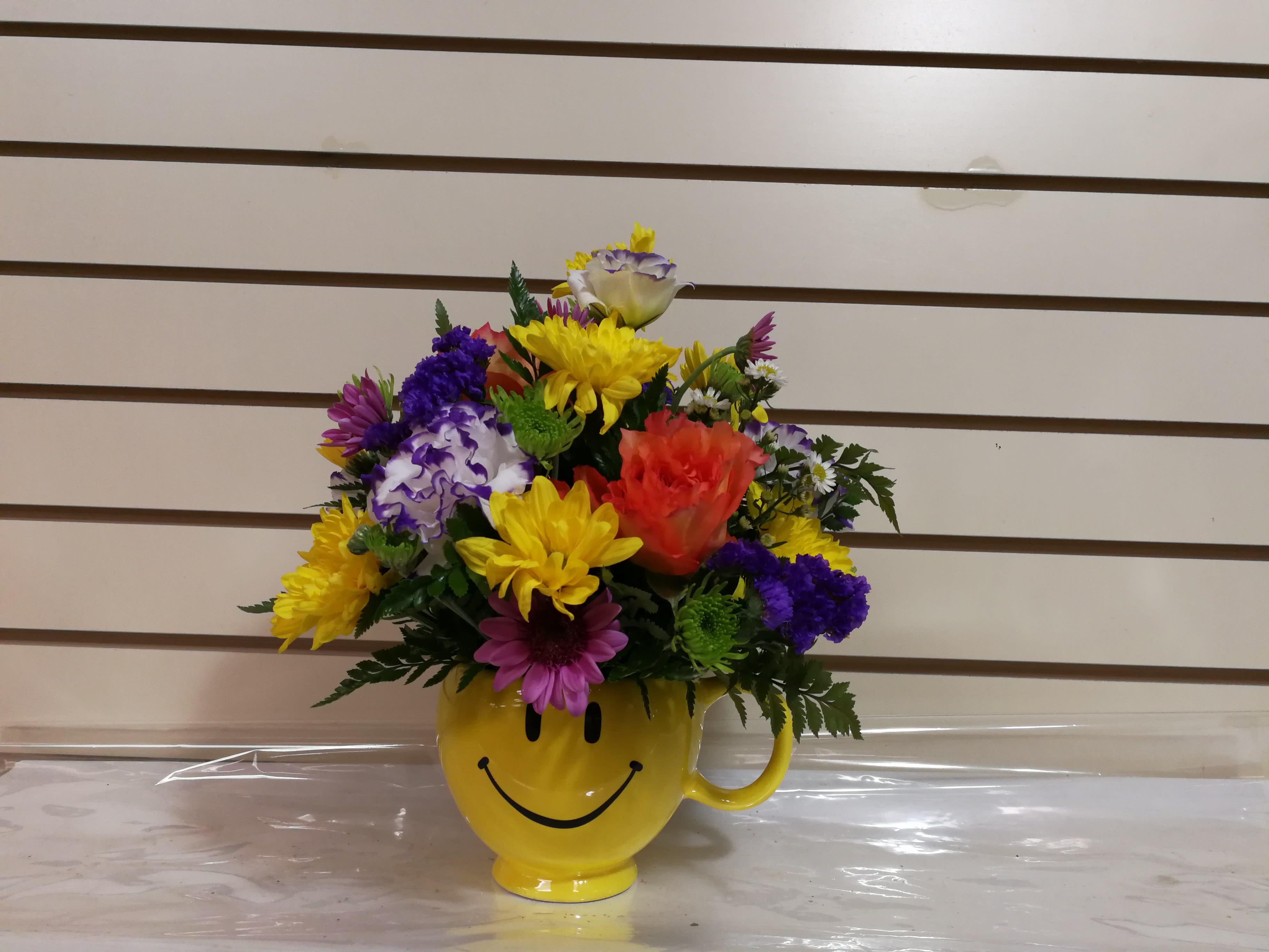 Happy Emoji Mug in Evanston, IL   Preston's Flowers