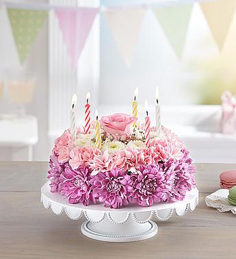 Flower B Day Cake
