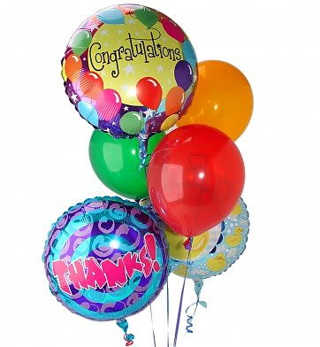 3 Birthday Mylar Balloons Latex BB 3HBD3LB