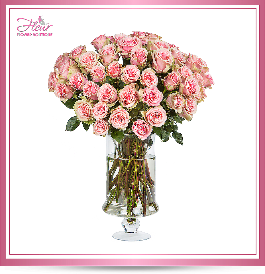 Pink Rose Deluxe By Fleur Flower Boutique