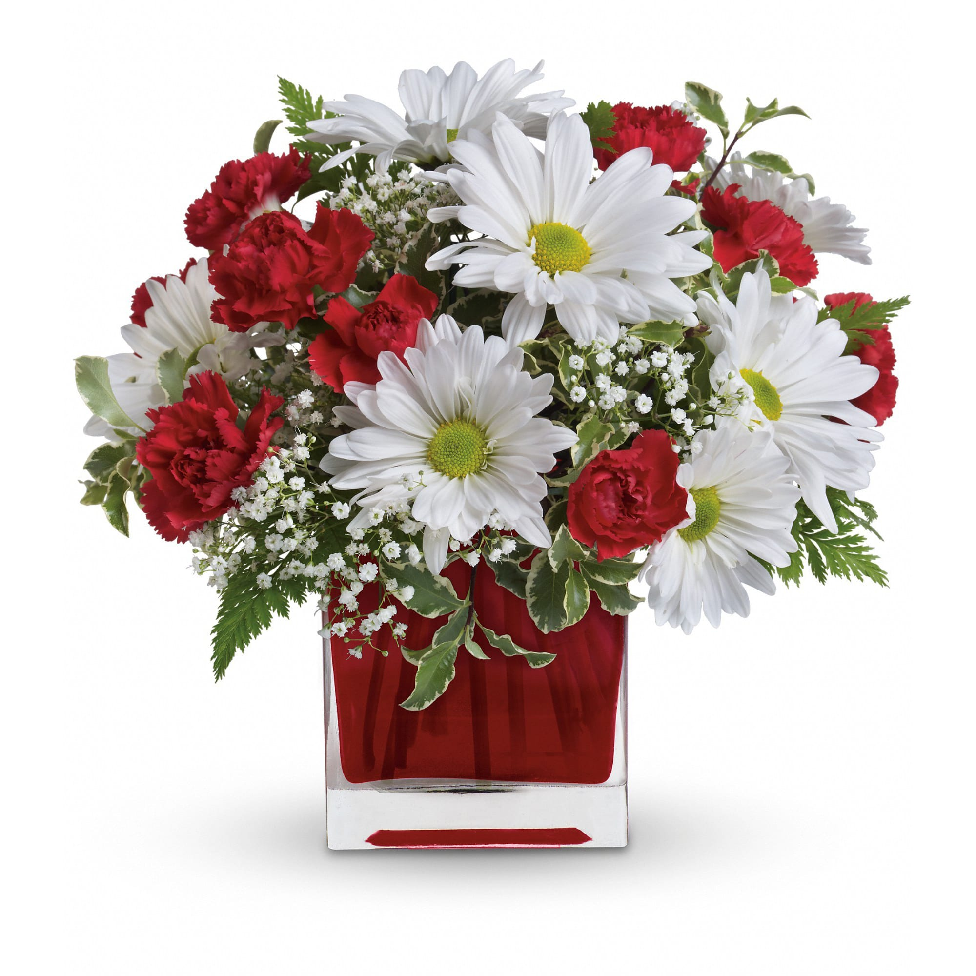 Red And White Delight By Teleflora In Farmington Mo Ike S Florist