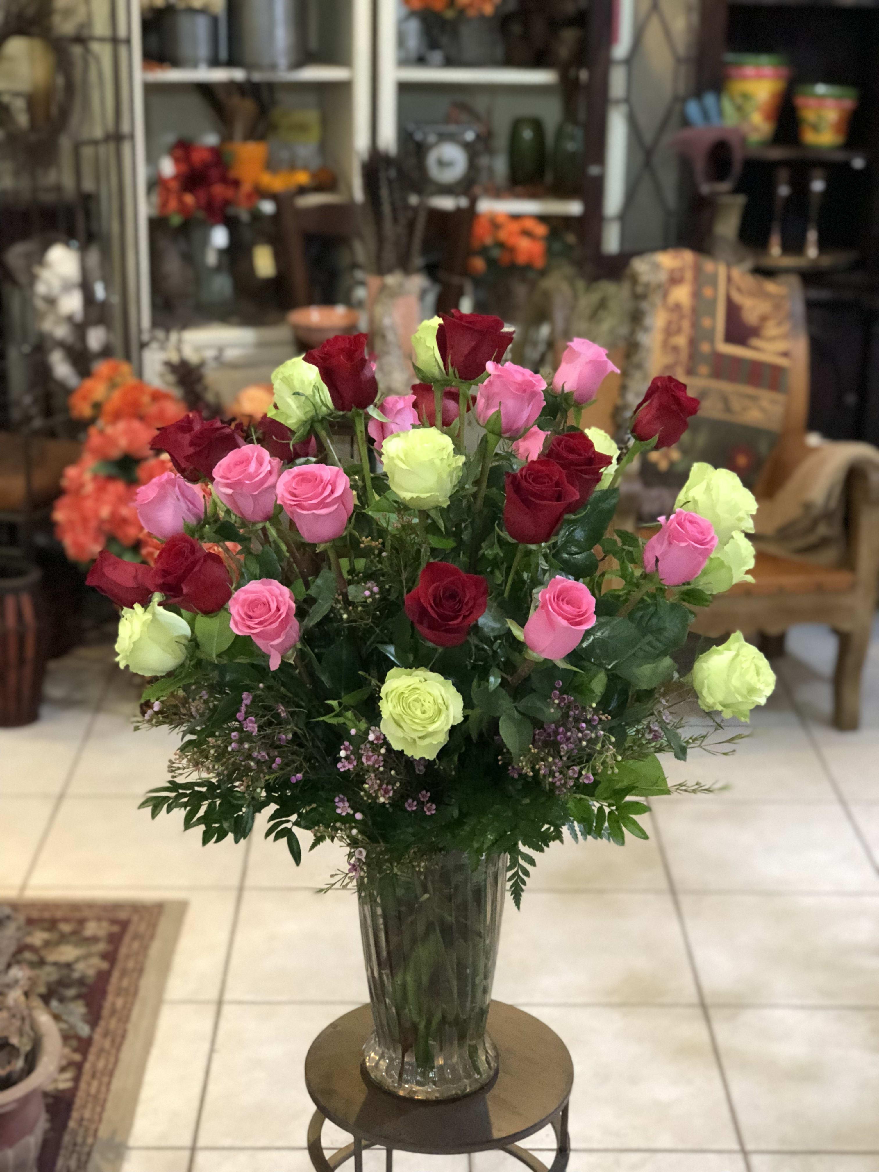 Symphony Of Roses In Cooper City Fl De La Flor Florist Gardens