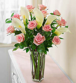 Pink Rose And Calla Lily In San Jose Ca Valley Florist