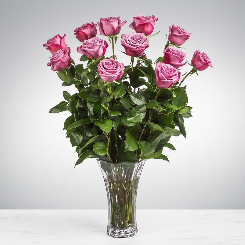 10f76fb634c Dozen Long Stemmed Lavender Roses by BloomNation™ in Melville ...