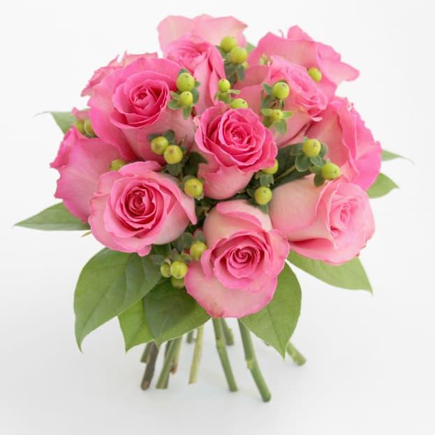 One Dozen Pink Rose Bouquet In Mickleton Nj Bowkay Com