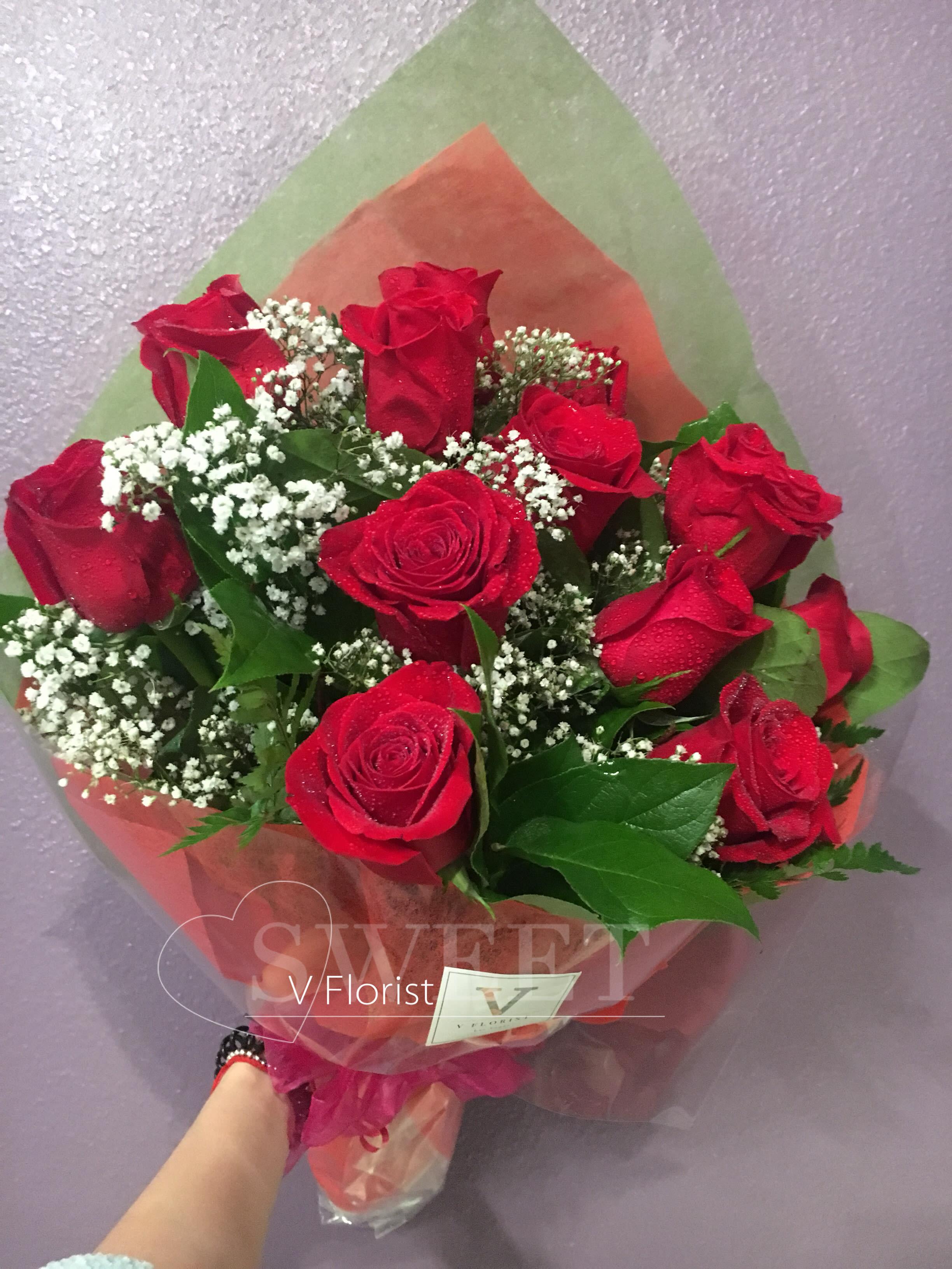 Simple Red Roses Bouquet in Las Vegas, NV | V Florist