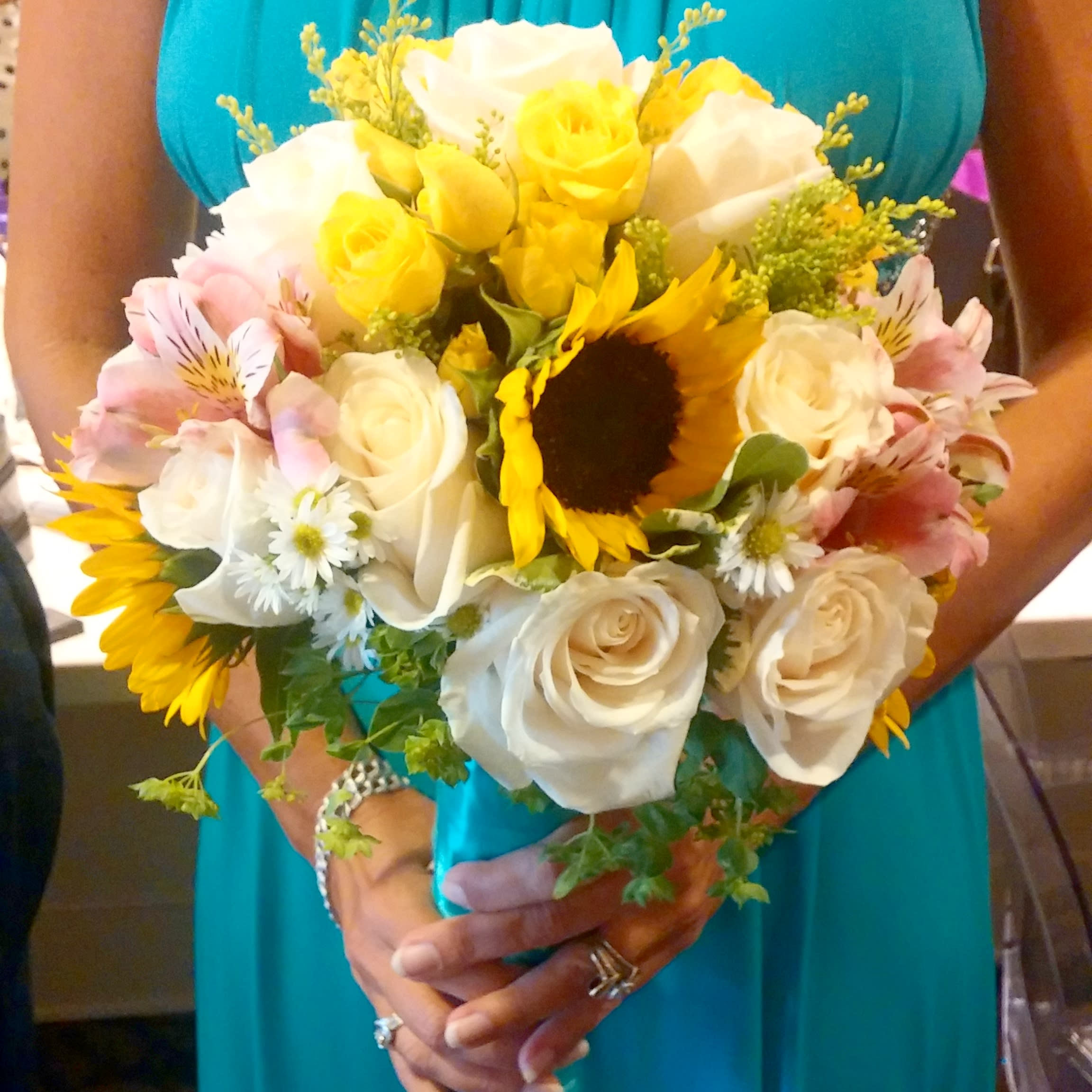 Sunflower Bridal Bouquet In Downey Ca Chitas Floral Designs