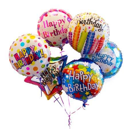 6 Mylar Balloons Bouquet