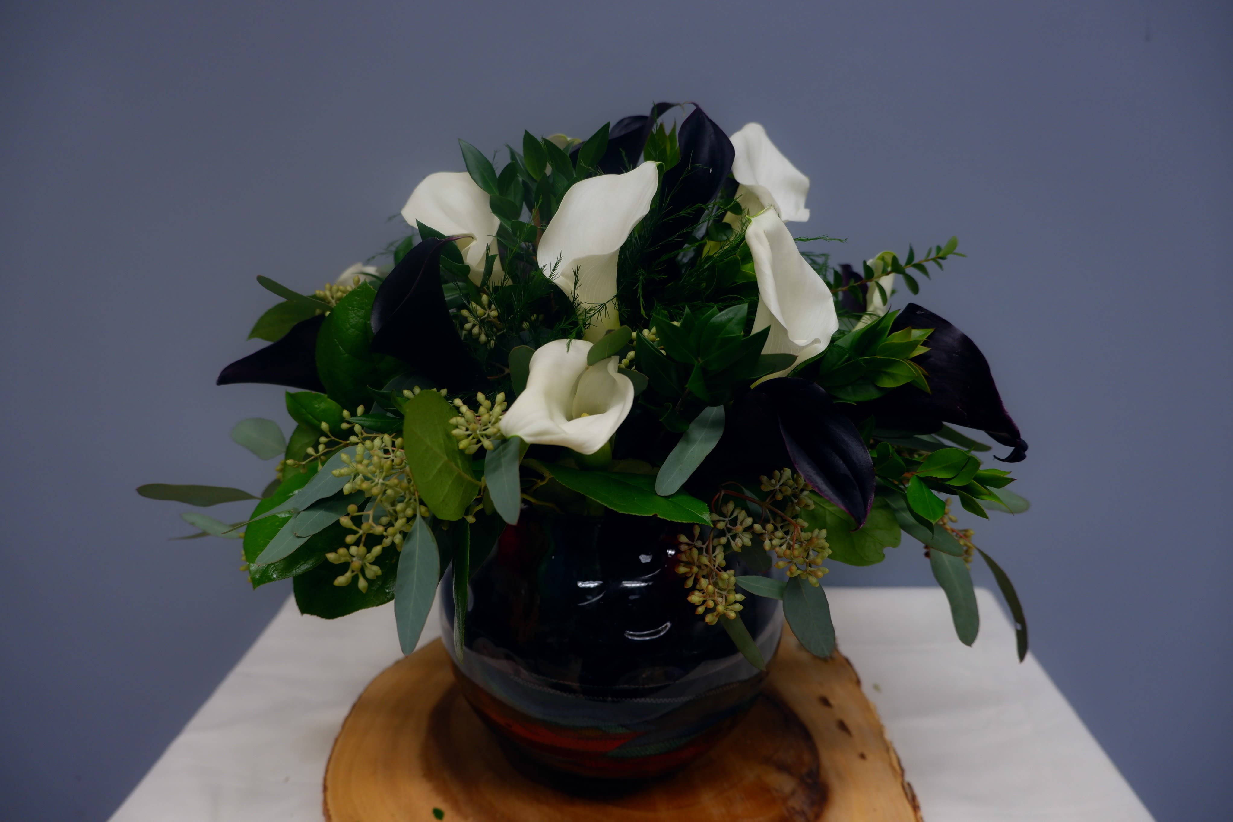 Black And White Calla Lilies Sf167 In Claremont Ca Sherwood