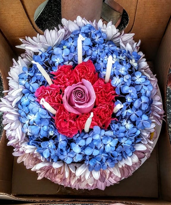 NO Calories In This Beautiful Floral Cake It May Look Good Enough