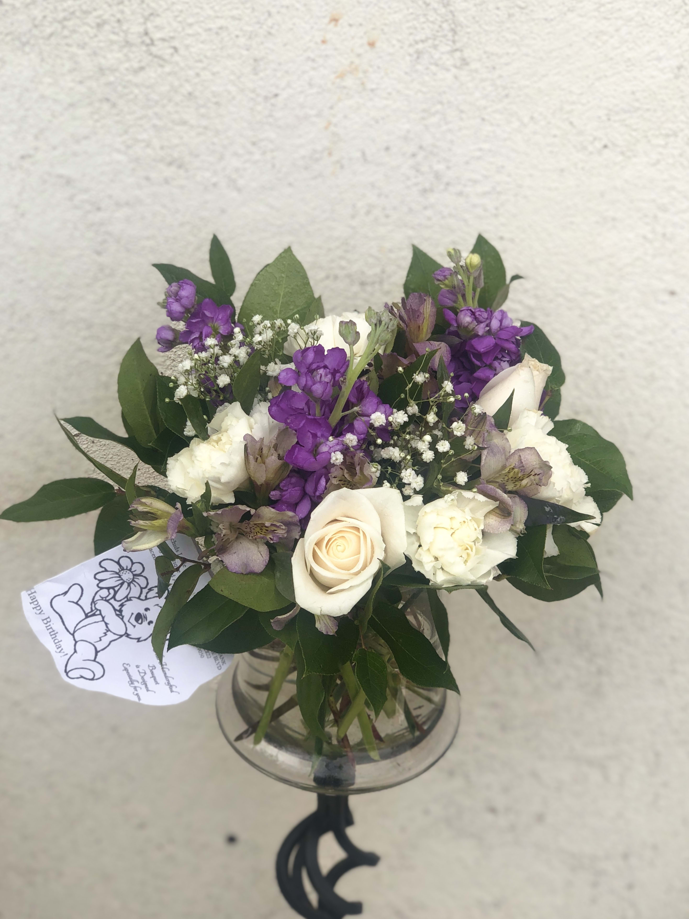 Joyful Purple Flower Bouquet