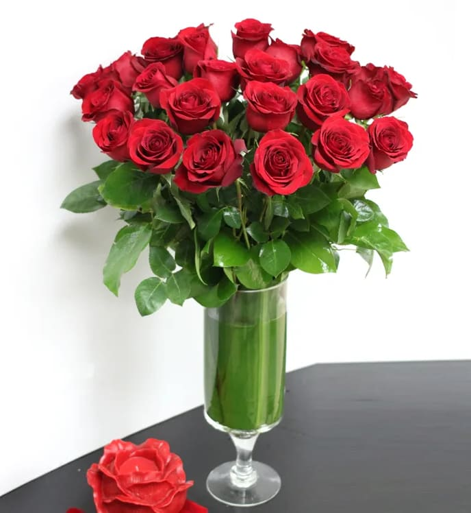 2 Dozen Roses Classic Look In Beverly Hills Ca My Beverly Hills Florist