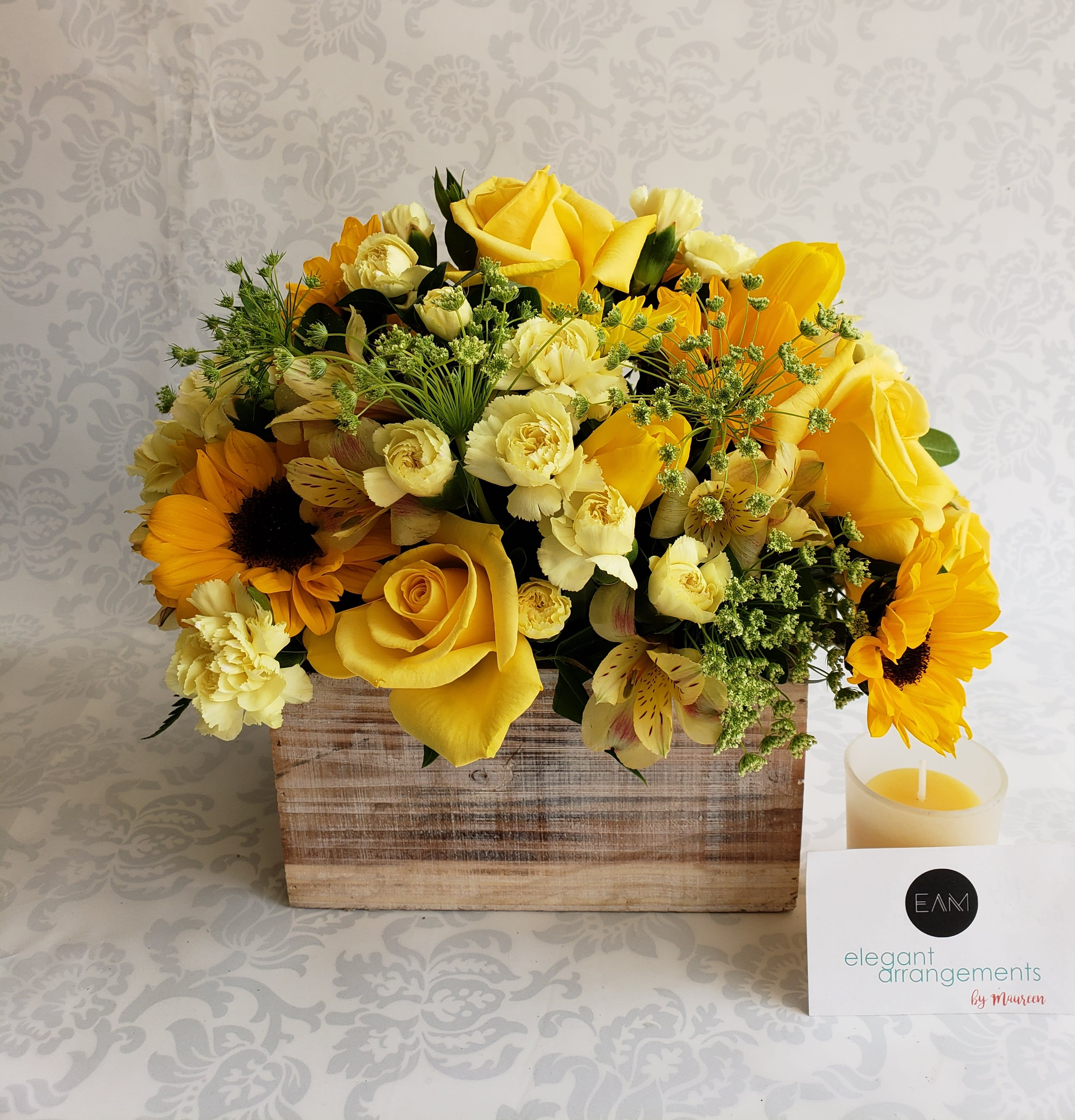 Yellow Flower Box