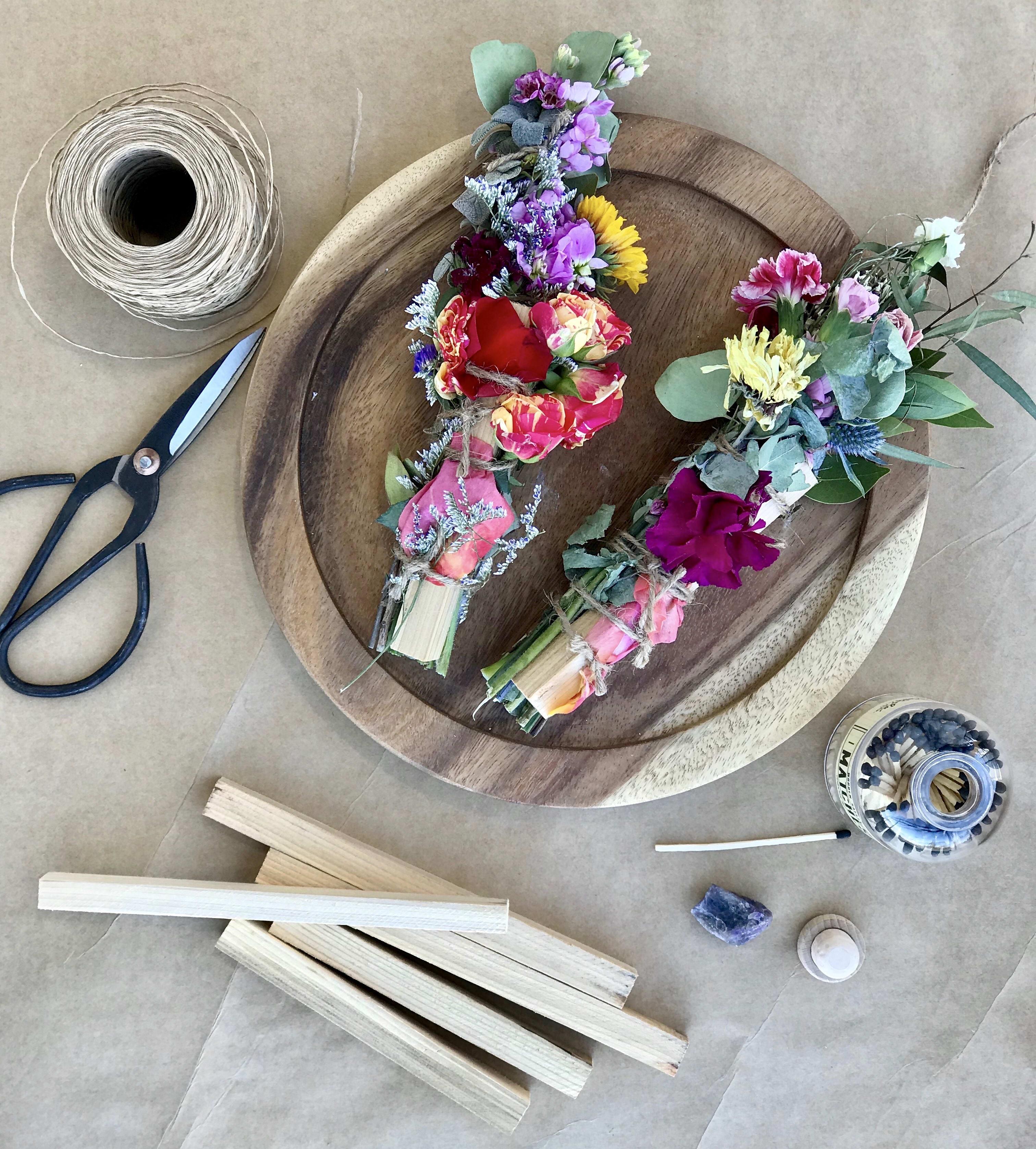 +NEW+Botanical Smudge Stick Workshop In Kennewick, WA