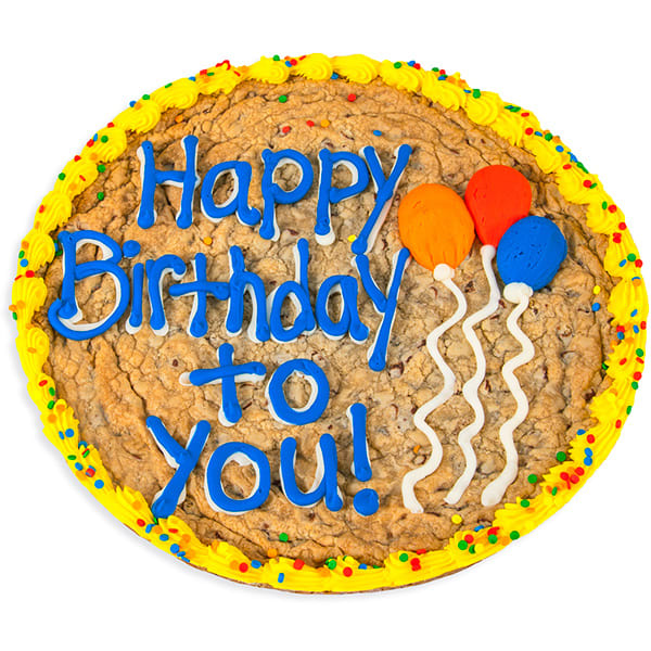Happy Birthday Balloons Cookie Cake