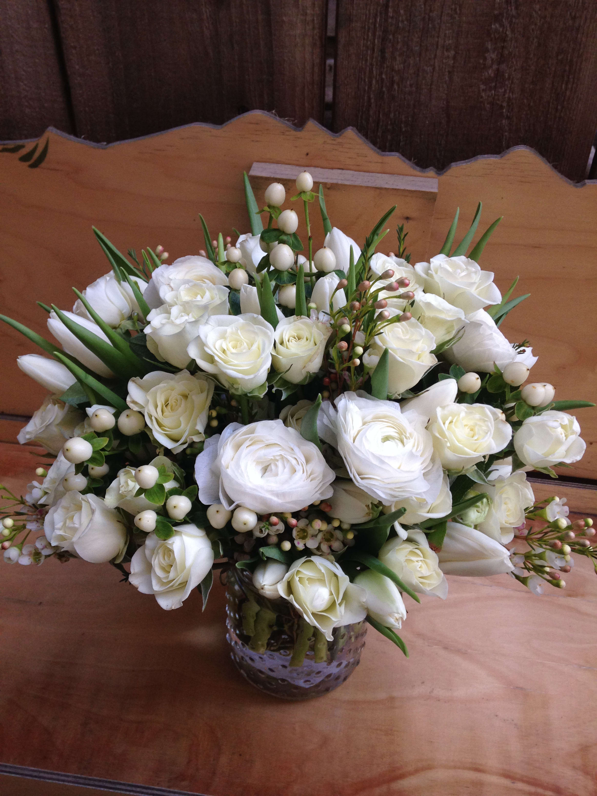 Pure And Classic White Arrangement In San Francisco Ca Flowers