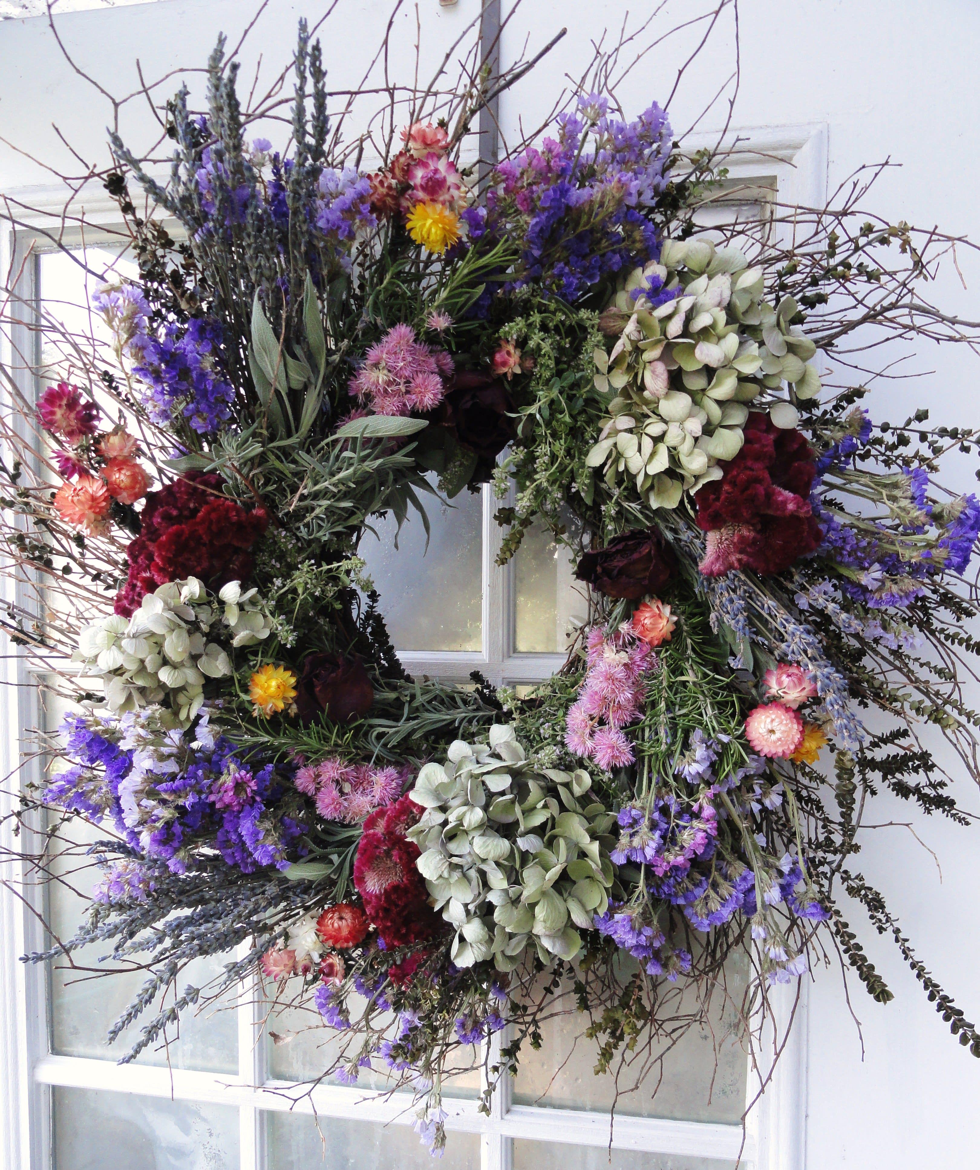 Dried Sympathy Wreath in SEVERN, MD   Willow Oak Flower & Herb Farm