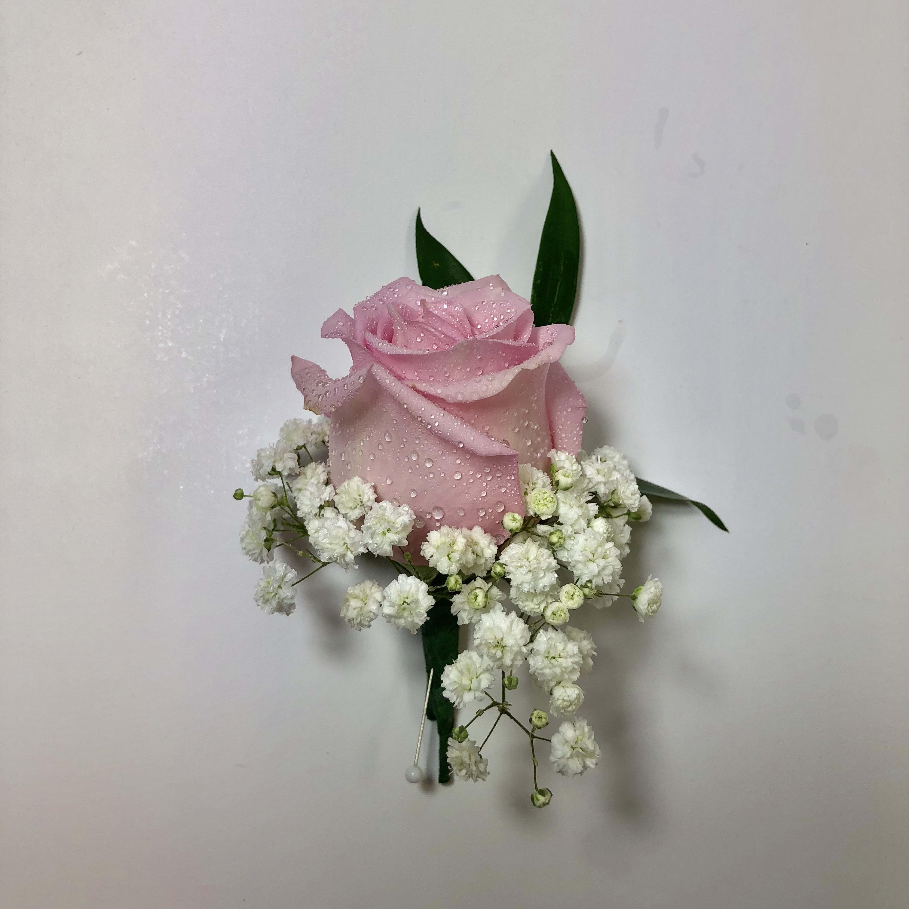 B12 Pink Rose Boutonniere FG364P