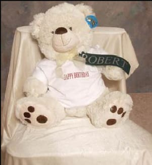PERSONALIZED HAPPY BIRTHDAY BEAR