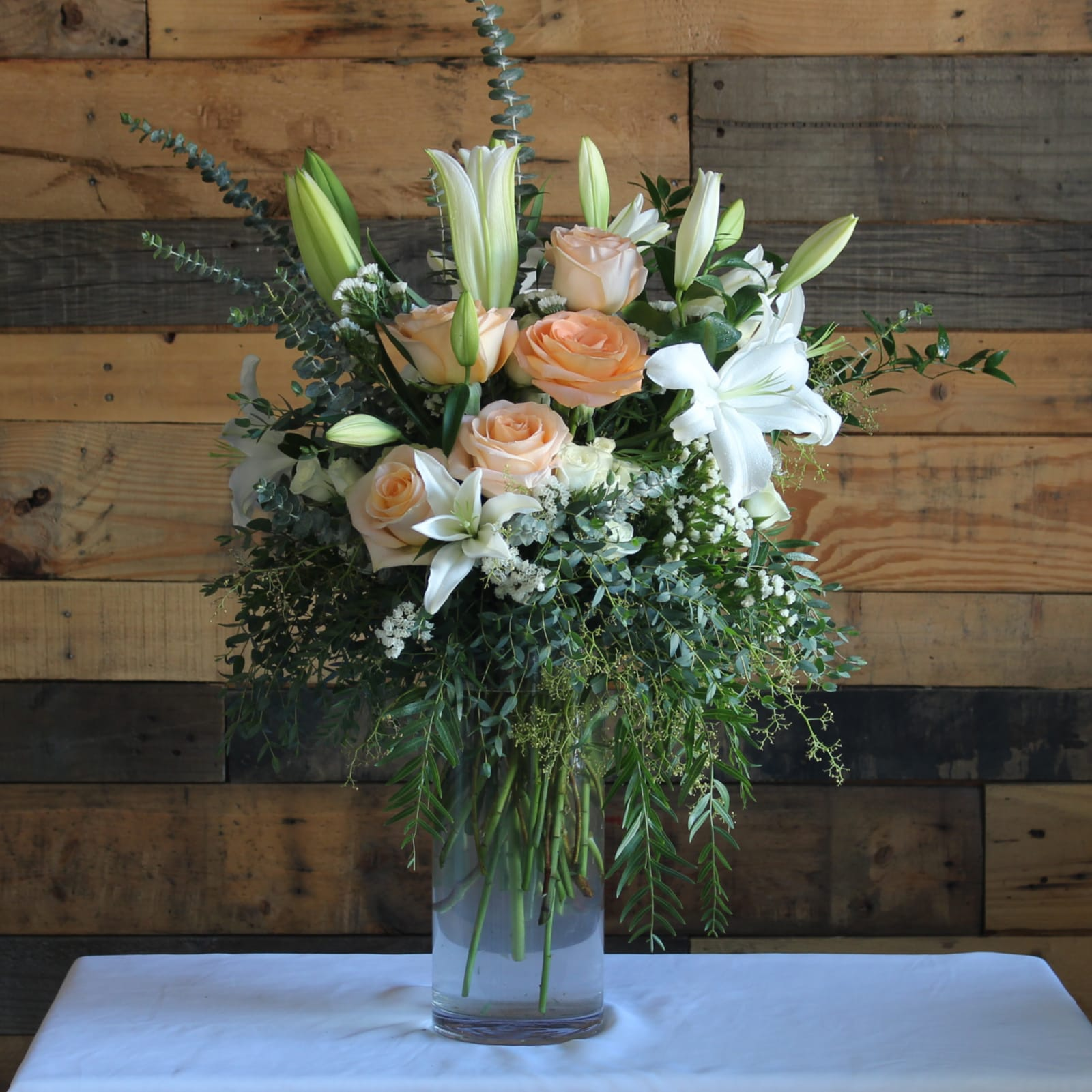 Tall City Delivery >> Peach Delight In Temple City Ca Fanny S Flowers