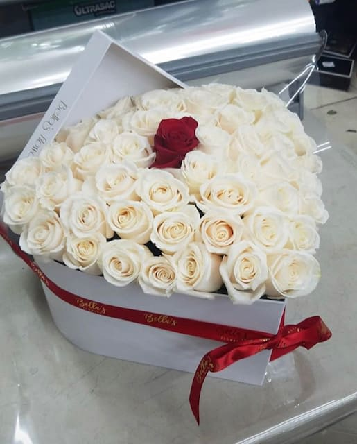 7eb1e05e05b White On White Heart Box in New York, NY | Roses In A Box NYC
