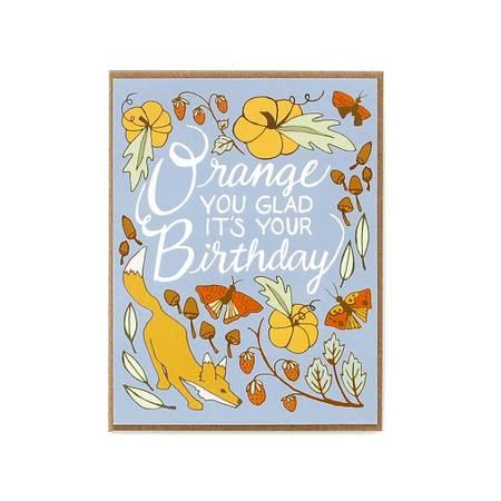 Orange Birthday Card In Kennewick WA