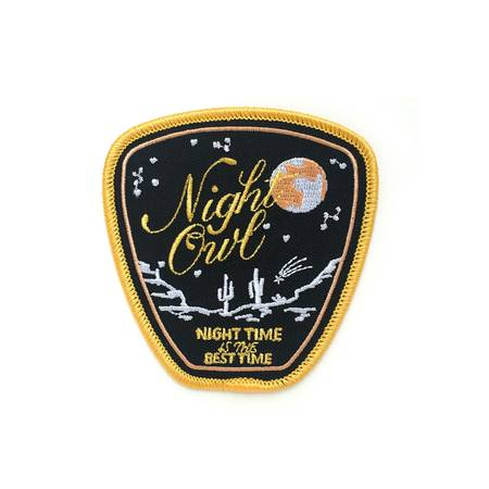 Night Owl Embroidered Patch in Kennewick, WA | Lucky Flowers