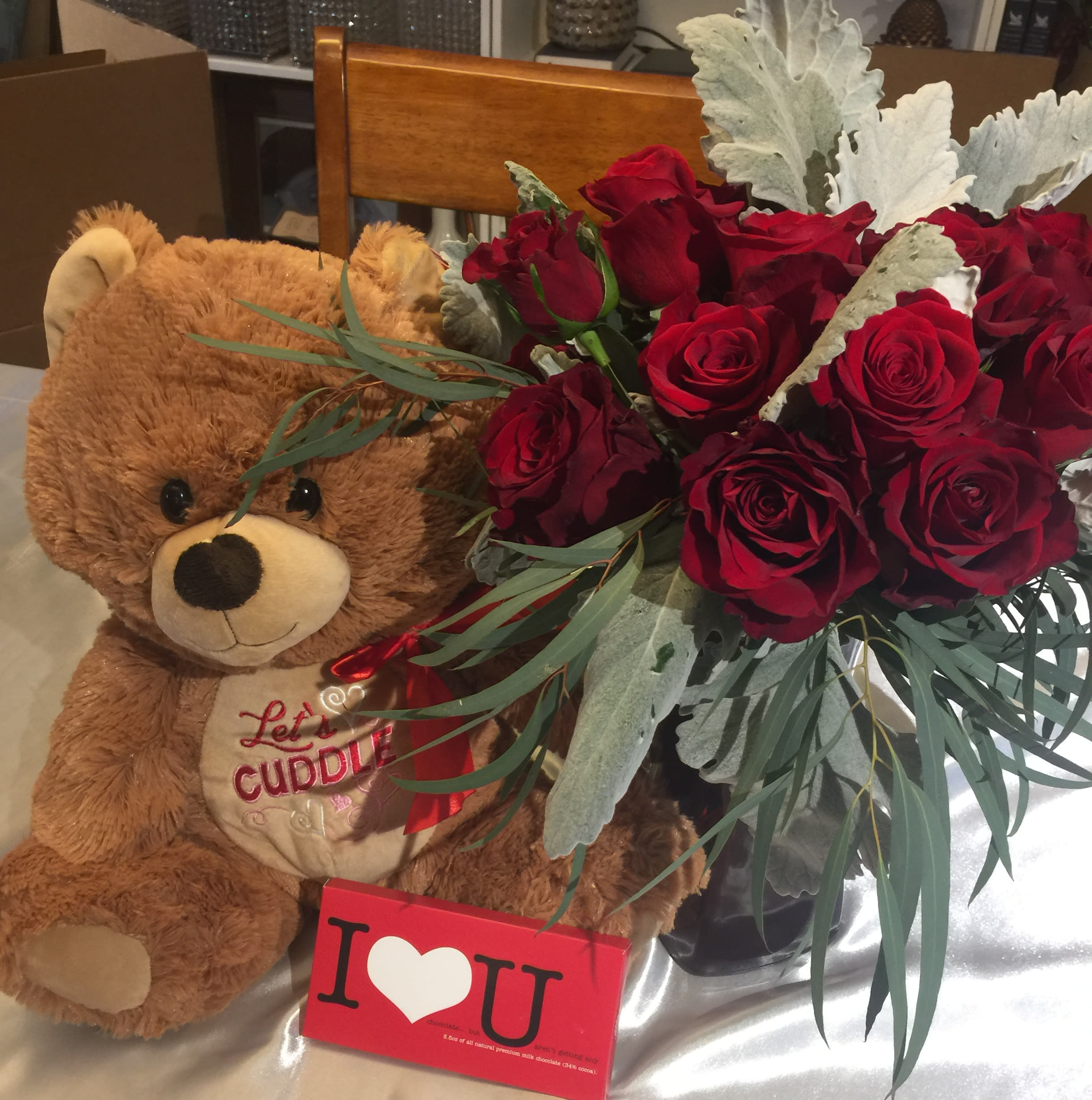 Plush Bear, Chocolate and Roses! in Austin, TX