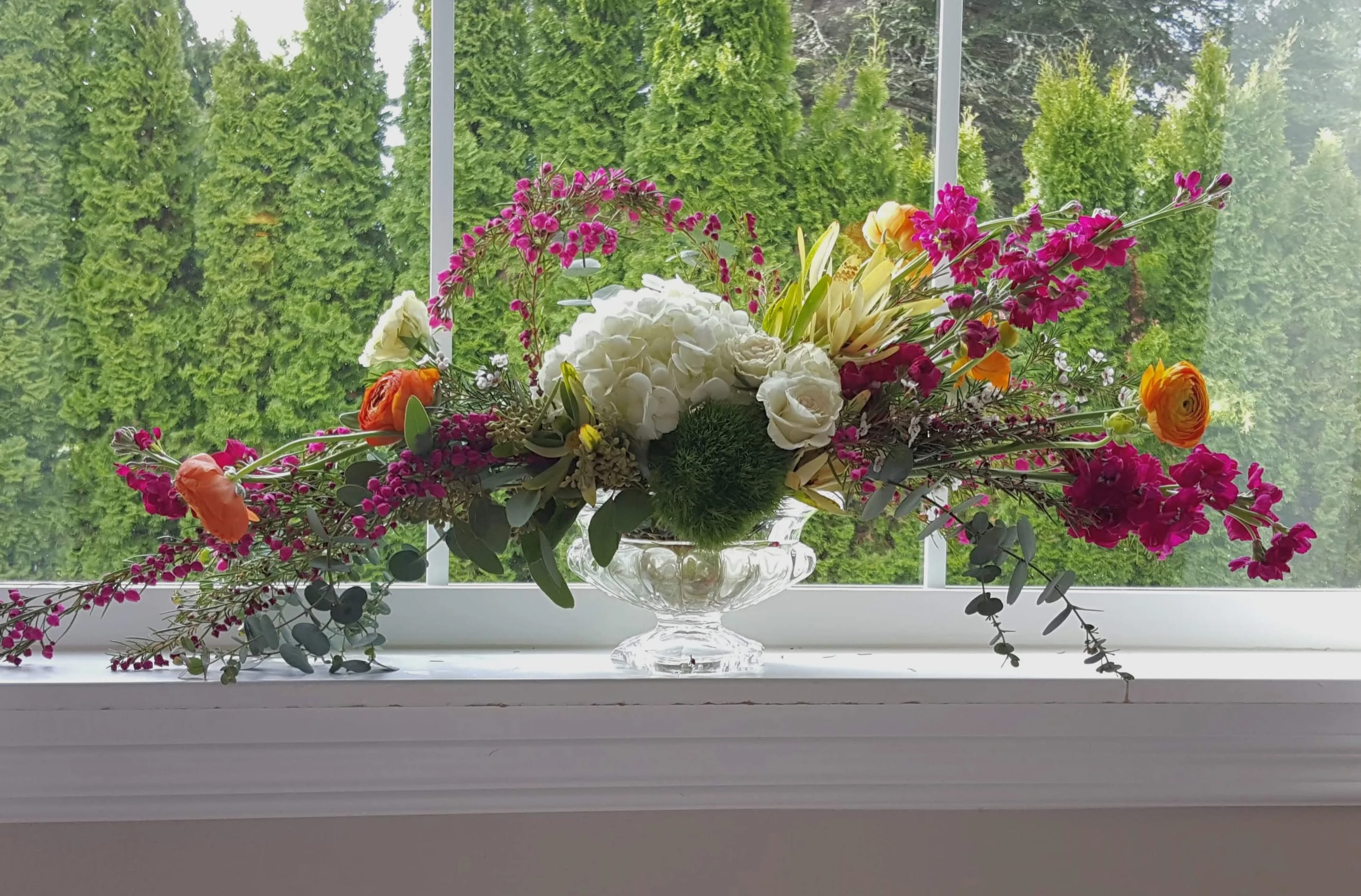 Lush Garden Flower Arrangement In Olympia Wa Specialty Floral