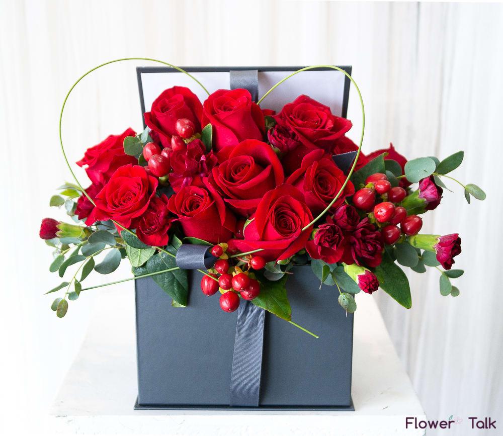 All My Heart Flower Gift Box by Flower Talk in Duluth, GA