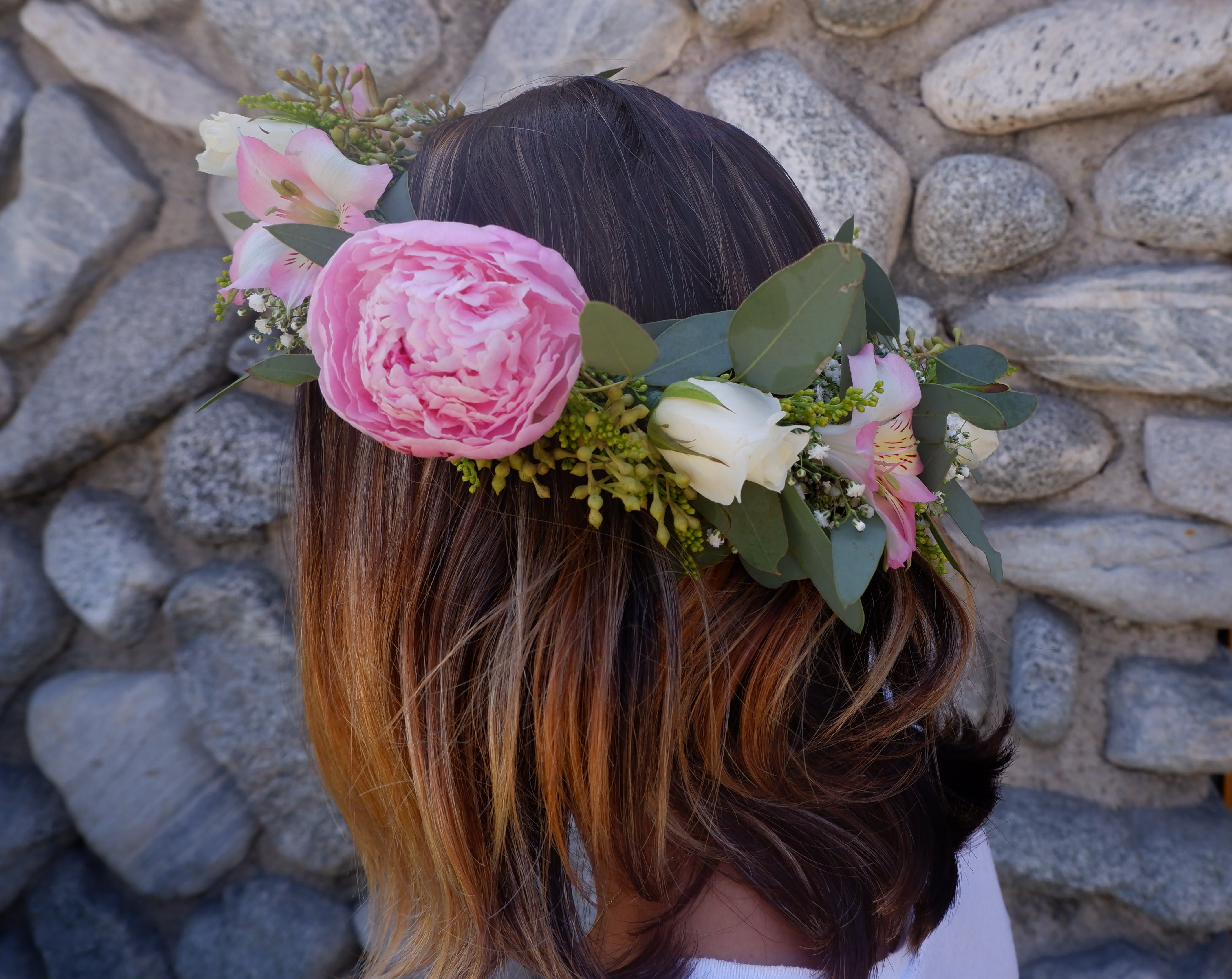 Rose And Peony Flower Crown (SF174)