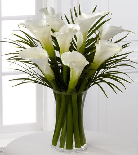 White Calla Lily Vase In Hampton Falls Nh Flowers By Marianne