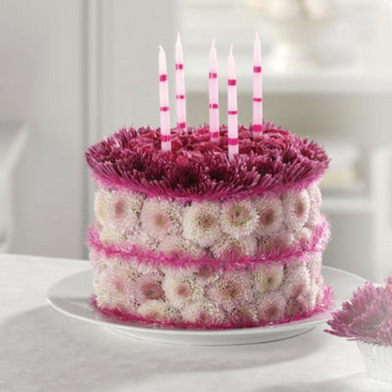 Blooming Birthday Cake By Jackie Jo Flowers