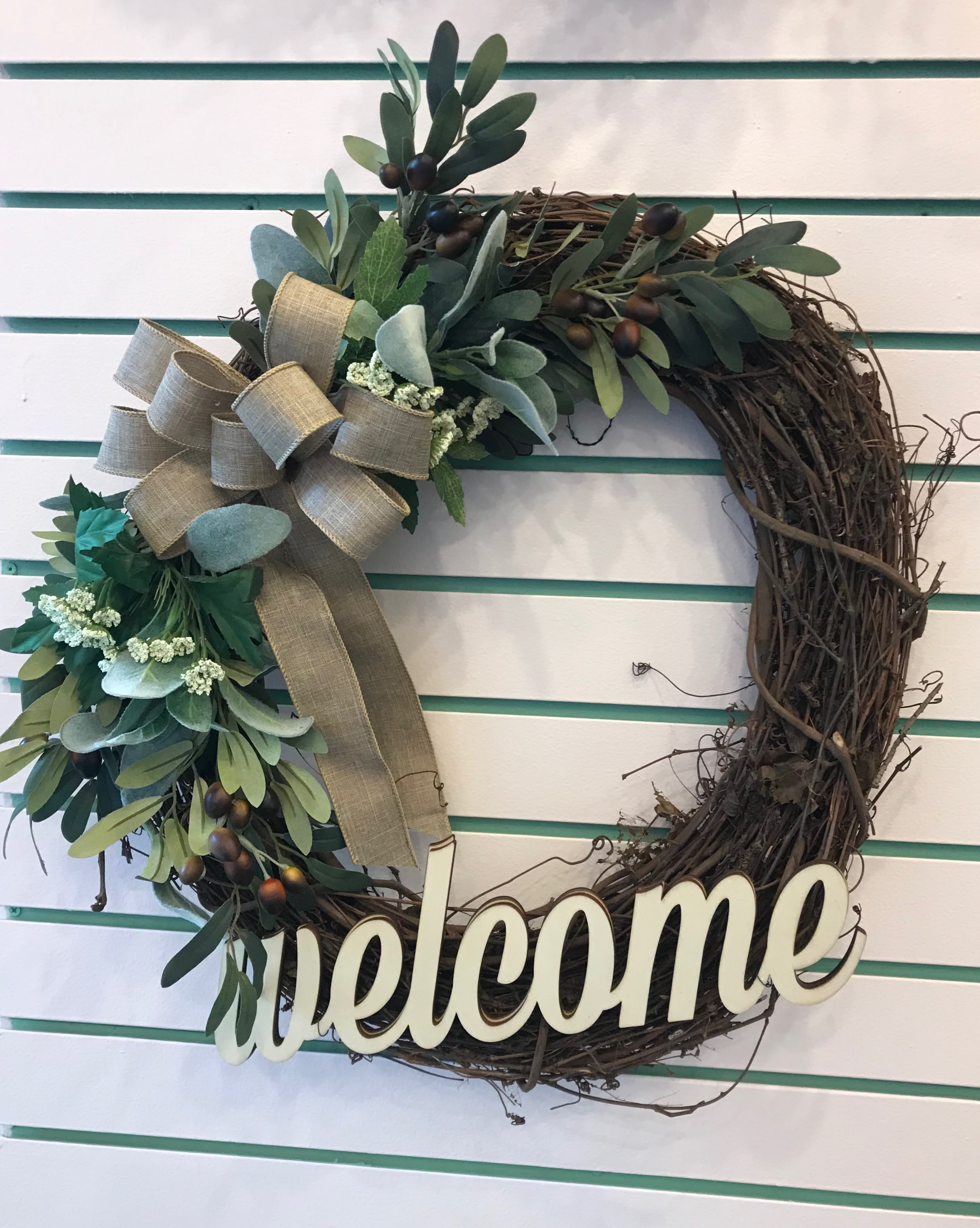 Welcome Wreath in Lawrenceburg, IN | Artistic Floral