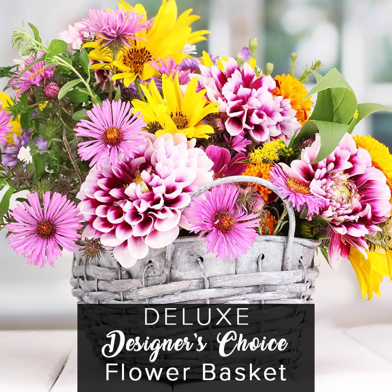 Designer S Choice Flower Basket Deluxe In Philadelphia Pa Ten Pennies Florist