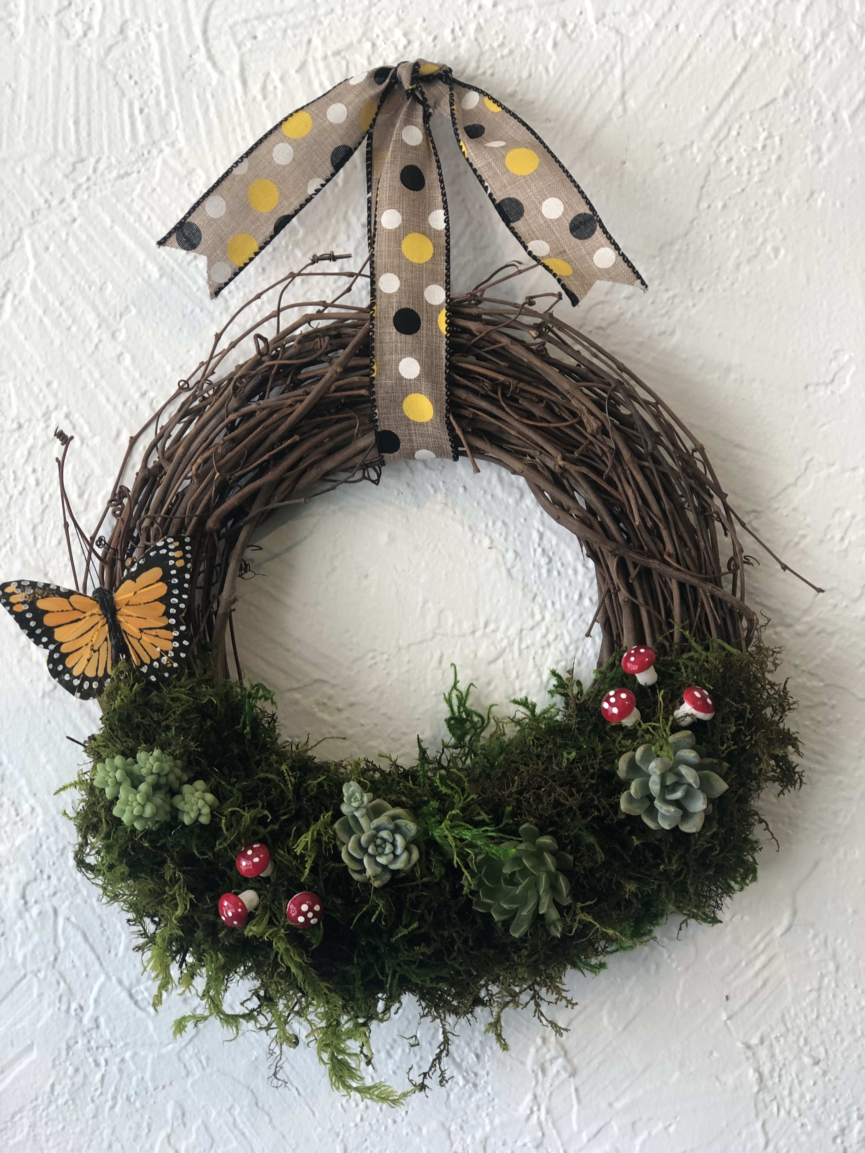 Summer Succulent Wreath in Bakersfield, CA   House of Flowers
