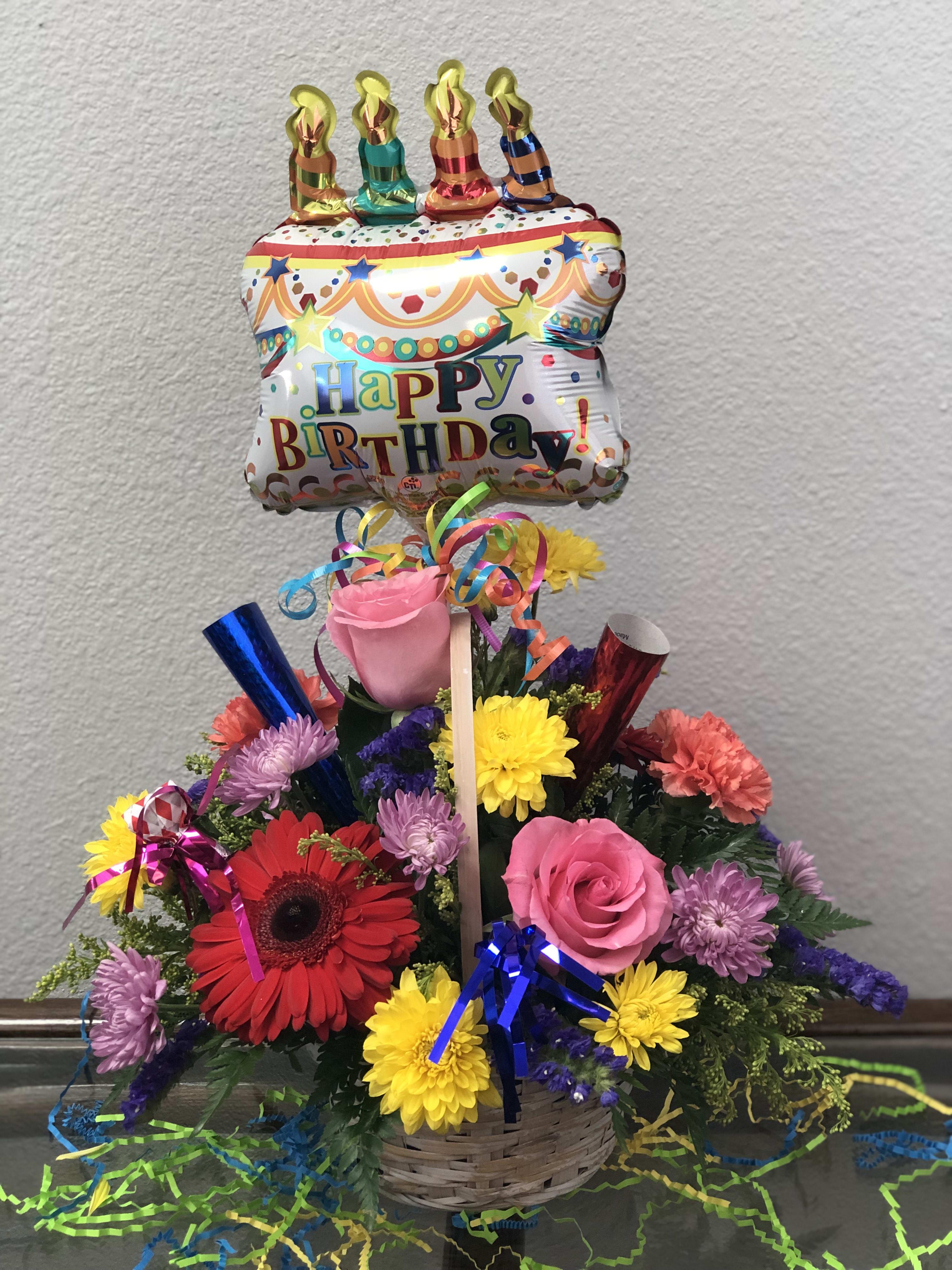 Birthday Bash Bouquet in SAN ANTONIO, TX | The Last Straw Florist