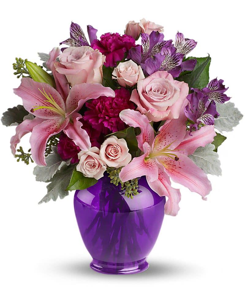 Teleflora S Elegant Beauty In Mount Carroll Il Flower Fan A See